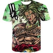 2019 Harajuku Dragon Ball Super Broly 3D impreso camisetas de moda de verano Casual de manga corta Streetwear T camisa