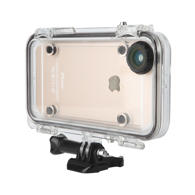 newest 4a055 c19eb US $42.84 |Extreme Sports Waterproof Camera Case Cover for Apple iPhone 6  6S With Wide Angle Lens Built in Adapter for GoPro Accessories on ...