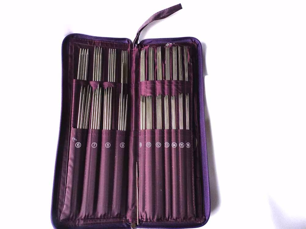Image 4 - 104pcs Stainless Steel Straight Needle Circular Needles Knitting Needles Crochet Hook Weave Set with Bag Sewing Needle KitsSewing Needles   -