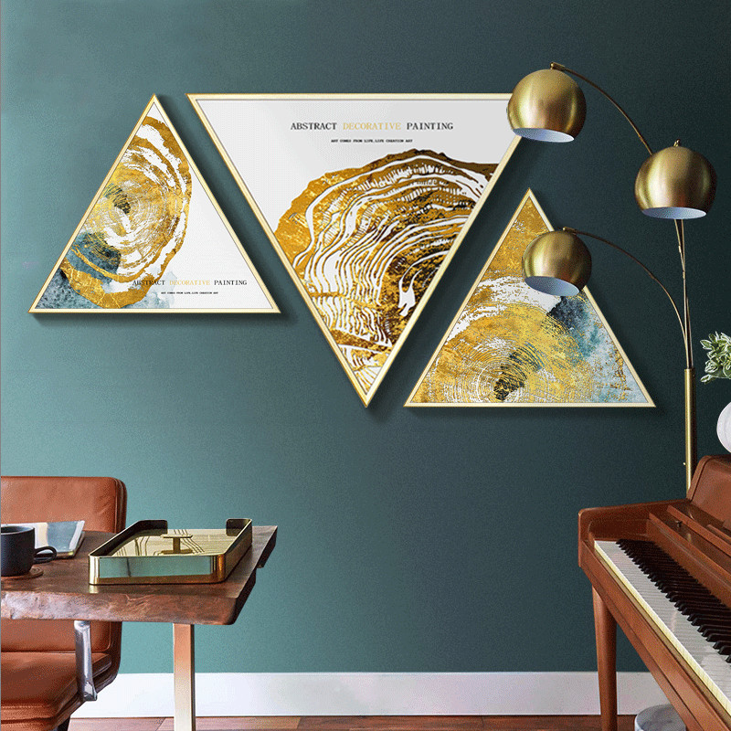 Abstract golden wall painting minimalist bedroom bedside Creative Nordic ins style Livingroom decorative frame