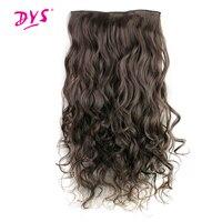 Deyngs 5 заколки для волос для наращивания цельный длинный волнистый синтетический парик высокотемпературные накладные волосы для женщин 24 дю...
