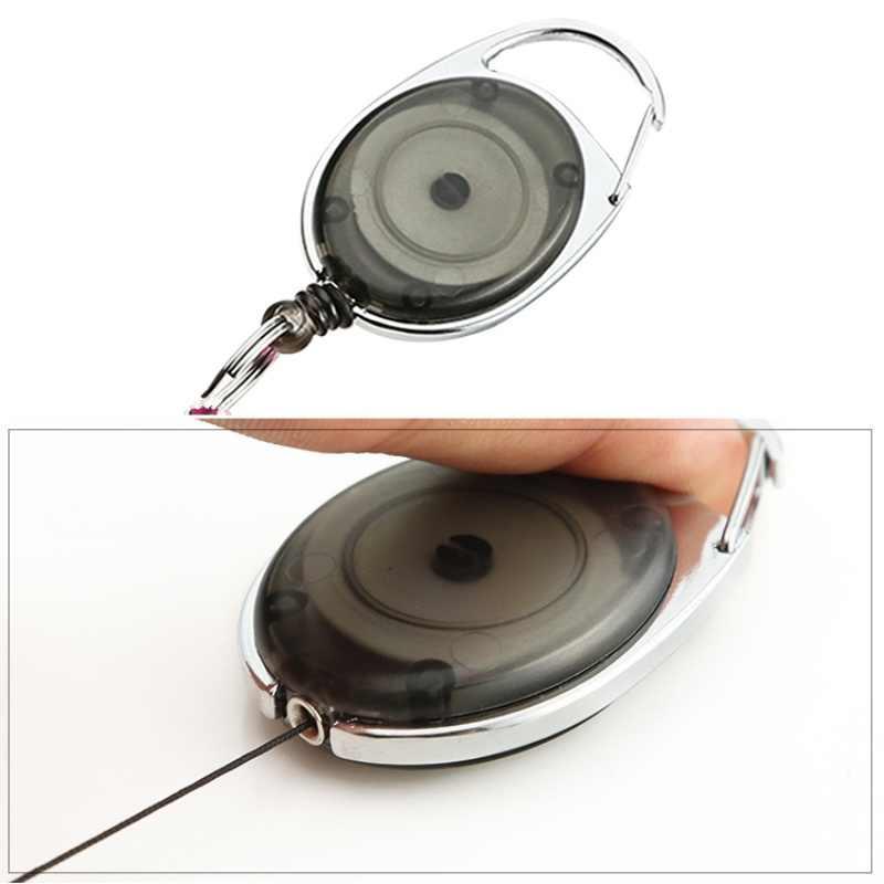 야외 다기능 미니 개폐식 키 체인 안티-분실 키 체인 버클 리코일 링 당겨 클립 열쇠 고리 야외 도구