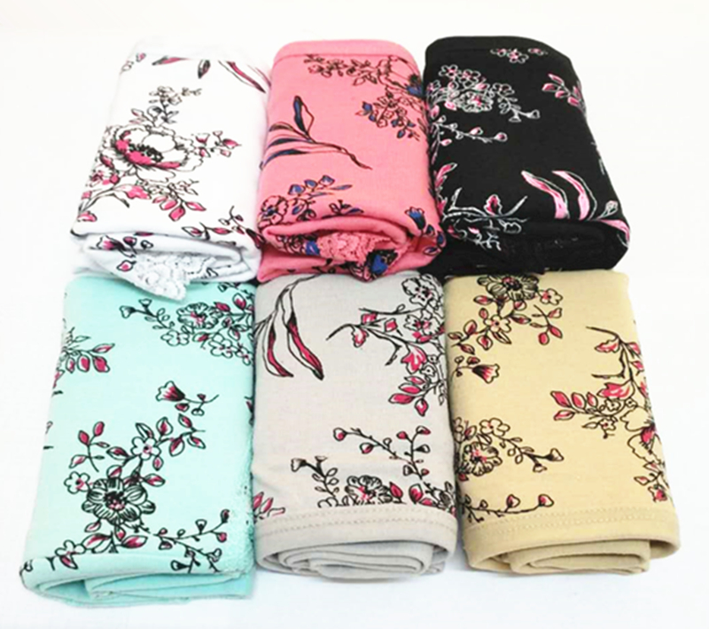 Free shipping 3pcs/Pack! Sexy briefs for women Plus Size Cotton Woman   Panties   Printed Pattern Breathable Briefs XXL/3XL/4XL