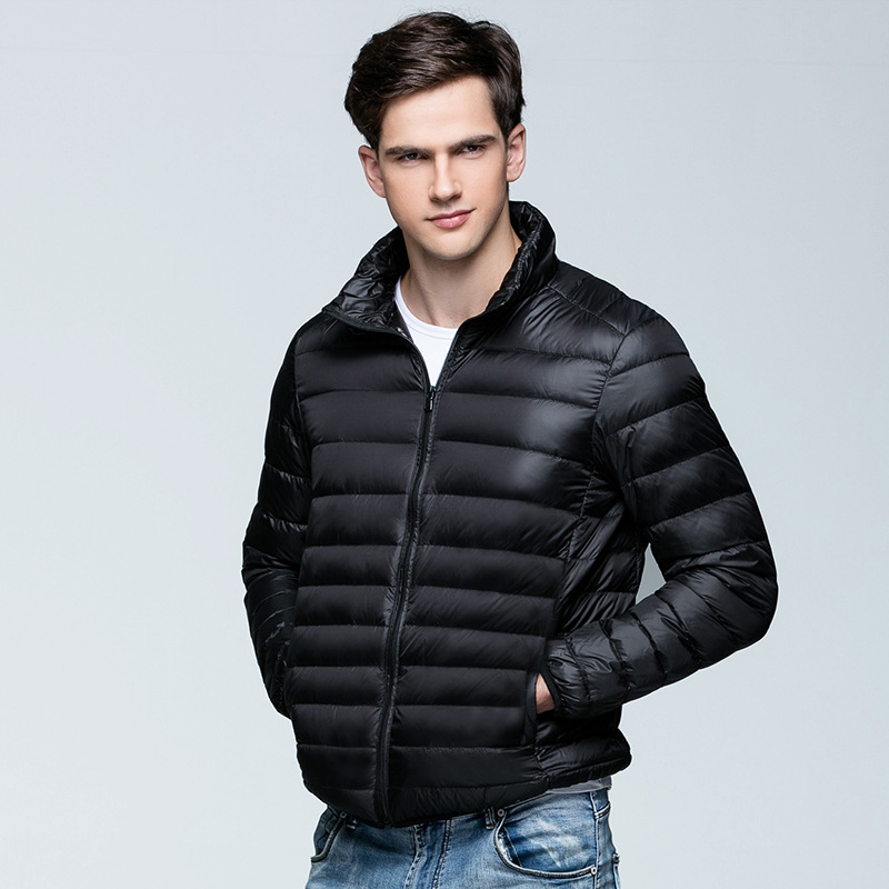 Men's Clothing Jackets & Coats Lovely Man Winter Autumn Jacket 90% White Duck Down Jackets Men Hooded Ultra Light Down Jackets Warm Outwear Coat Parkas Outdoors Punctual Timing