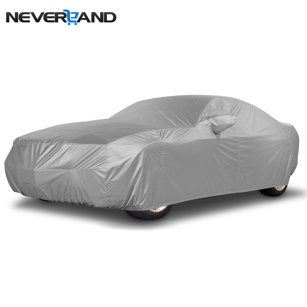 NEVERLAND Indoor Outdoor Full Car Cover Sun UV Rain Snow Dust Resistant Protection Size S M L XL Car Covers