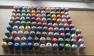 Image 2 - Popular Simthread 120 colors Polyester Embroidery machine thread 1100 Yards Each as home machine embroidery/quilting thread
