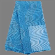 Großhandel preis Französisch tüll stoff mit bead Afrikanischen bekleidung mesh tuch für abendkleid MN129 (5 yards/lot)