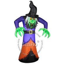 H010 3.5m Free shipping Inflatable Halloween Animated Witch with Light inflatable halloween costume