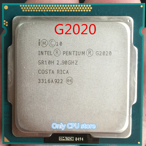 Intel Pentium Dual-Core G2020 SR10H Desktop CPU Processor LGA1155 2.9GHz 3MB 5GT//s