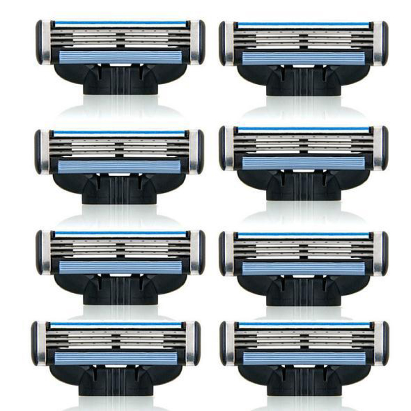 16pc 3-layer <font><b>Blades</b></font> Safety Razor Head for Men Face Beard Shaving