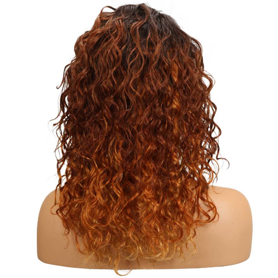 Sleek бразильский вьющиеся натуральные волосы парики для черный Для женщин Мода Волнистые парик часть шнурка 99J T1b/27 дешевые Ombre натуральные волосы парик