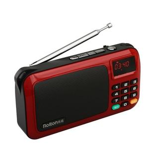 Image 4 - 2019 נייד W405 מיני FM רדיו רמקול מוסיקה נגן TF כרטיס USB למחשב iPod טלפון עם תצוגת LED