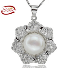 Actual Pure Freshwater Pearl Necklace & Pendant For Ladies/Girls/Ladies Trend Jewellery Real 925 Pure Sterling Silver