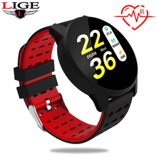 LIGE Smart Bracelet Activity fitness Tracker band IP67 Waterproof Bluetooth Sport Watch LED Color Screen