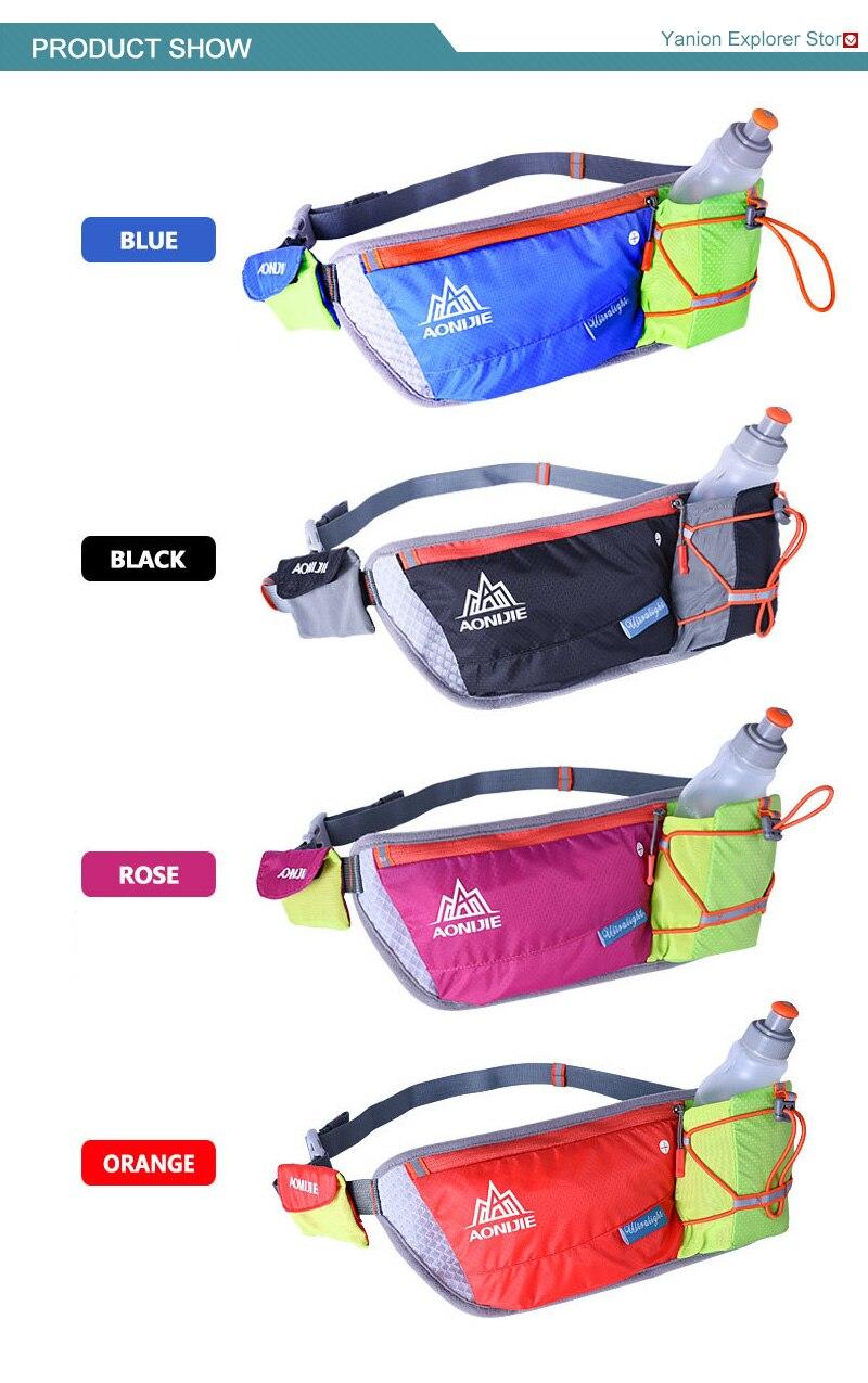 Aonijie Running Waist Bag Outdoor Lightweight Hydration Belt Water Blue Green Ahigh Quality Button Bbelt