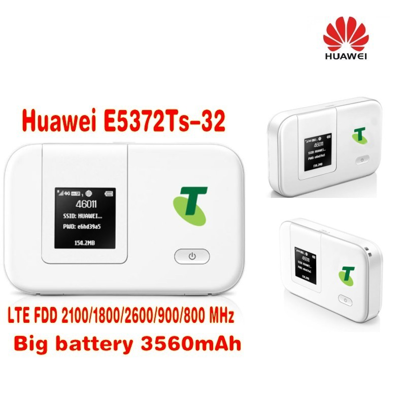 цена на 4g wifi router Unlocked Huawei E5372Ts-32 mifi 4G 3560mah wifi dongle 4g wireless router 4g cpe pocket plus with 2pcs 4g antenna