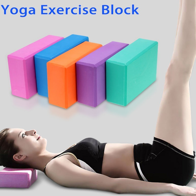 New EVA Yoga Block Colorful Foam Block Brick Exercise Fitness Tool Exercise Workout Stretching Aid Body Shaping Health Training