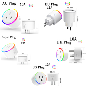 Image 5 - ASEER Tuya 스마트 라이프 플러그 소켓, EU wifi 전원 소켓, RGB LED 장면 모드 미국 미니 wifi 콘센트, 타이머 소켓 Alexa Google IFTTT