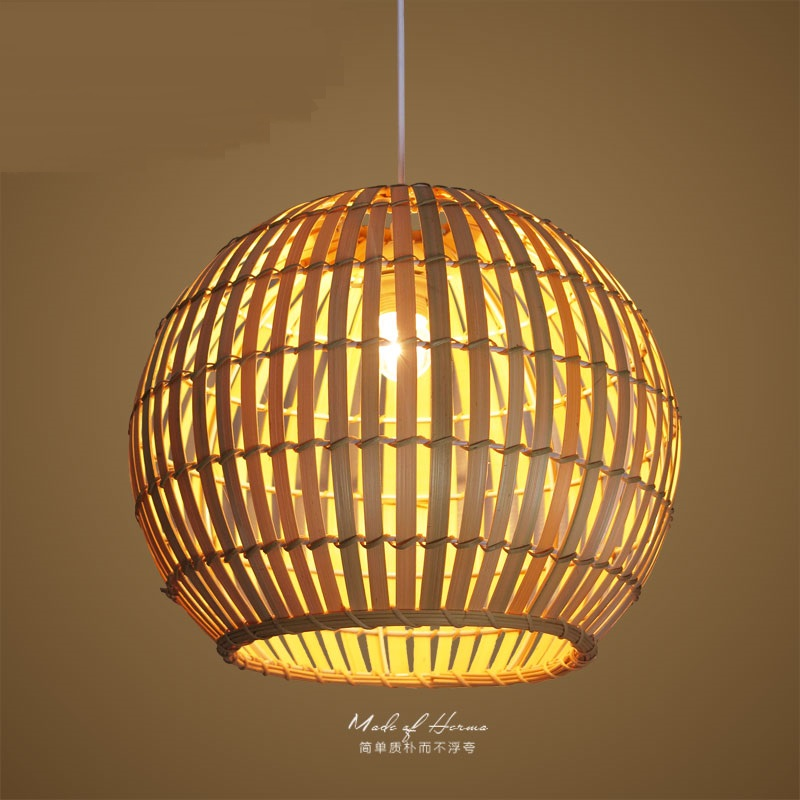 Simple bamboo cottage pendant lights creative rattan living room balcony restaurant attic garden lighting pendant lamps D30CM ZA a1 bedroom pendant lights lighting balcony restaurant rattan bar chinese retro pastoral bamboo rattan lamp