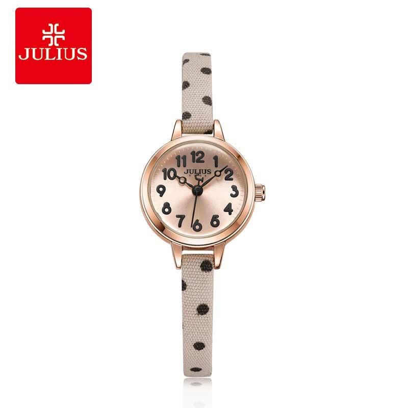 Julius Watches Women Fashion Watch 2018 New Elegant Dress Leather Strap Slim Quartz Wrist Watch Waterproof Special Gift все цены