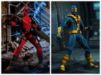 16CM Anime figure the avanager Deadpool blue/red ver movabale action figure for boys