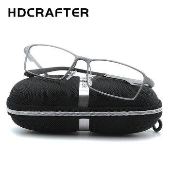 HDCRAFTER TR90 17g Lightweight Glasses Frame Myopia Hyperopia Prescription Eyeglasses Frames Reading Clear Glasses Frame Men