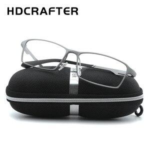 Image 2 - HDCRAFTER lunettes légères TR90, monture 17g pour la myopie et lhypermétropie, Prescription, montures pour lunettes de lecture transparentes pour hommes