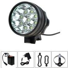 15000 люмен 9 xCree XM-L T6 свет фар на велосипеде головного света + 8800 мАч 18650 + зарядное устройство