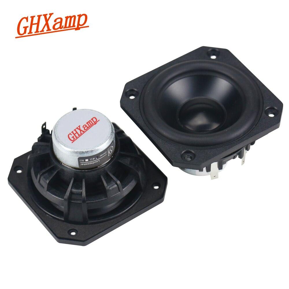 GHXAMP New Neodymium 3 Inch full range speaker 4ohm 25W HIFI Computer laptop Speakers Anodized Aluminum