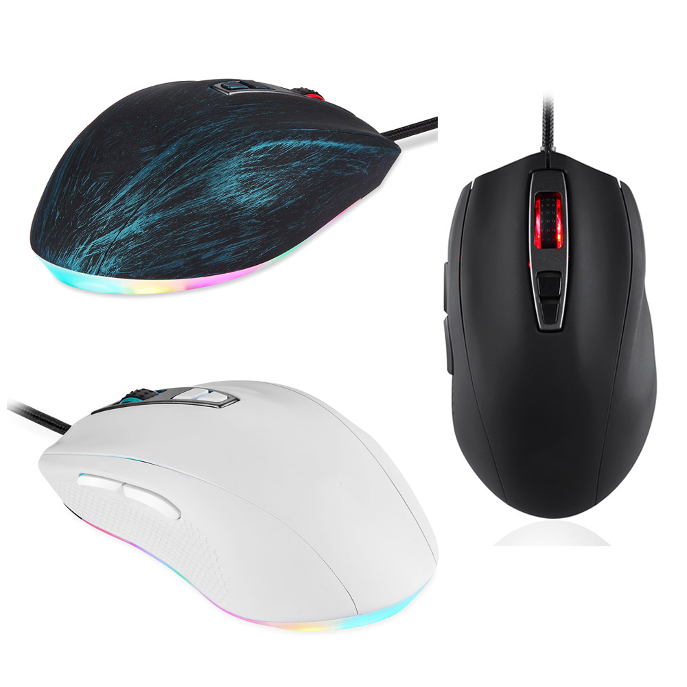 USB Wired Gaming Optical Mouse 5000 DPI LED Backlit 7 Keys Mice For Computer Laptop PC OD889