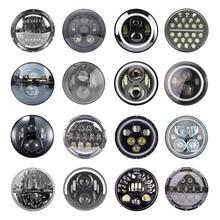 2xFor Лада Нива 7 дюймов светодиодный головной светильник Hi/Low луч светильник Halo угол глаза DRL налобный фонарь для Jeep Wrangler Off Road 4x4 suzuki samurai