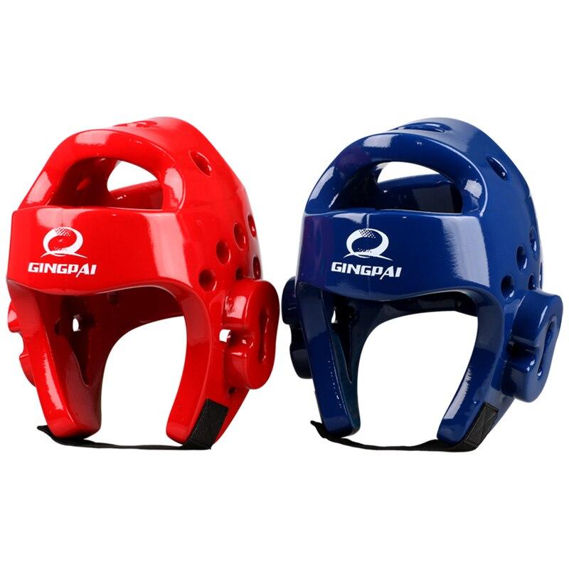 Новый Санда Каратэ Муай Тай Boxeo тхэквондо Бокс шлем обучение шлем для детей взрослых Для мужчин Для женщин синий и красный цвета