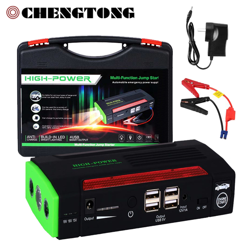 ФОТО 68800 mAh Car Jump Starter Power bank 12v Emergency Car Battery Booster Multi-function Car Starter US EU AU UK Plugs CS027