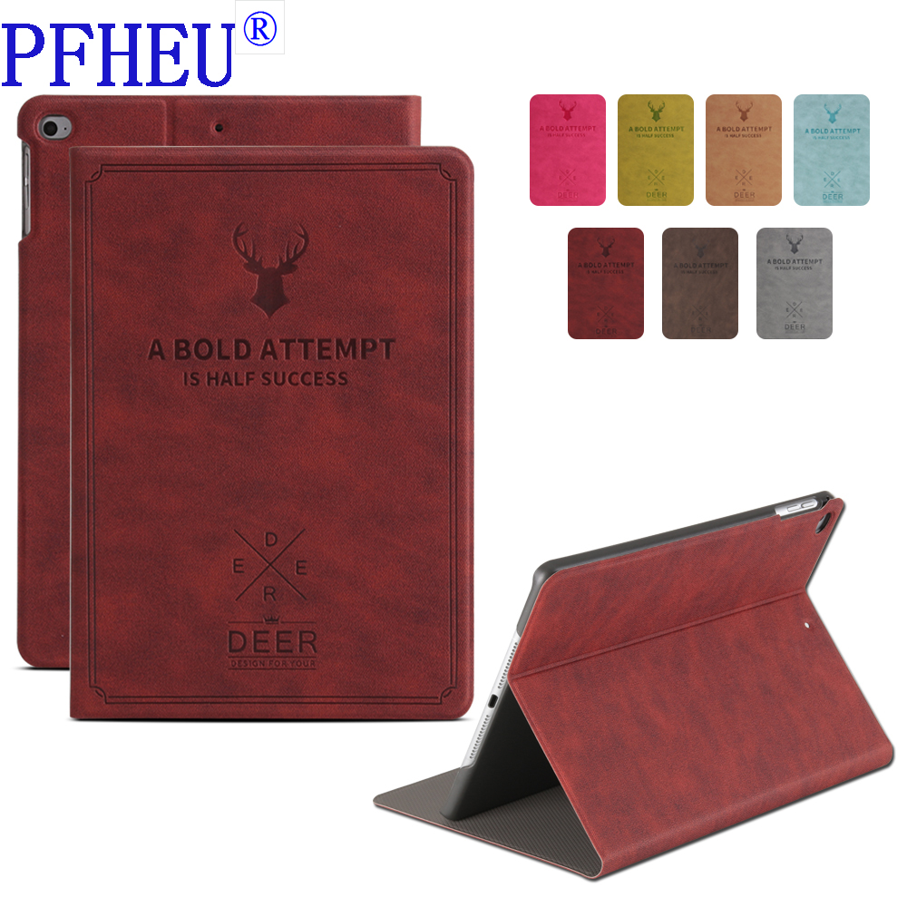 Case for iPad 2017 2018 9.7 New Tablet Stand PU Leather Magnet Smart Cover Auto Sleep/Wake for iPad 2017 9.7 inch Model Cover