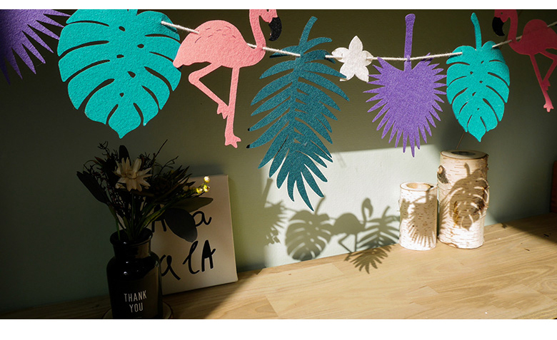 LED Fühlte Flamingo Regenwald Garland Bunting Banner Kinderzimmer Dekoration  Baby Shower Birthday Party Garten Decor In LED Fühlte Flamingo Regenwald ...
