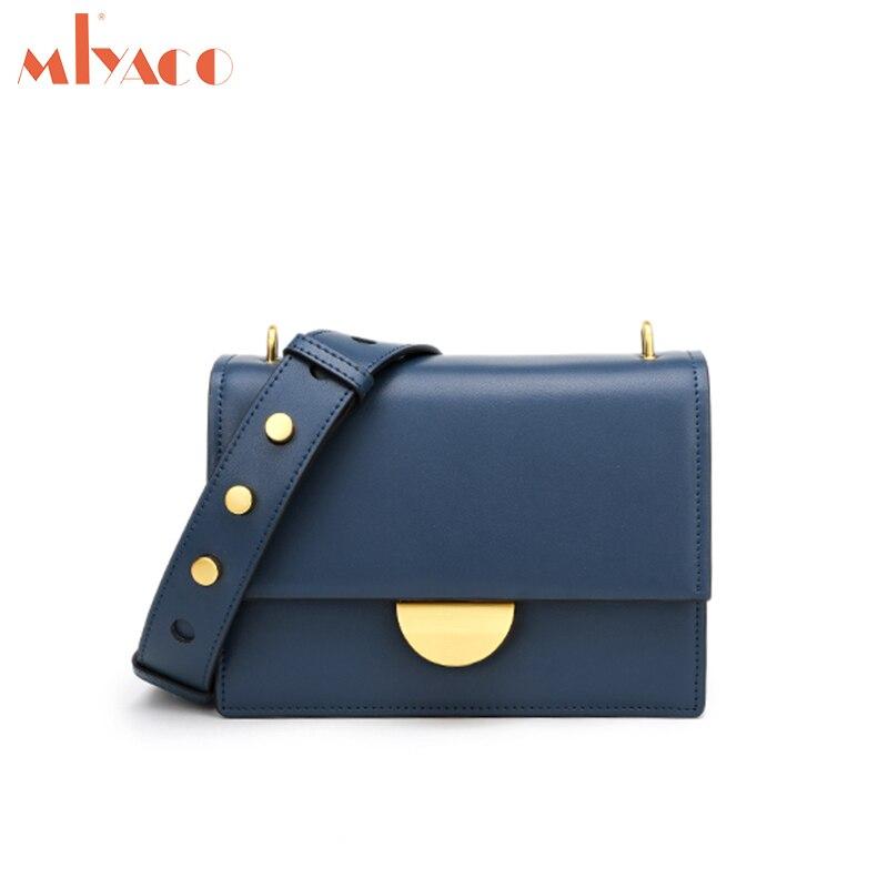 MIYACO Luxury Women Leather Messenger Bag New Fashion Small CK Cross body Bag Lady Bag Shoulder
