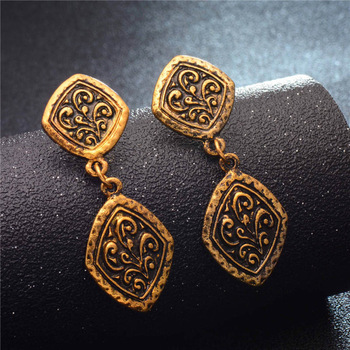 Fashion Metal Dangle Earrings Earrings Jewelry Women Jewelry Metal Color: GA719