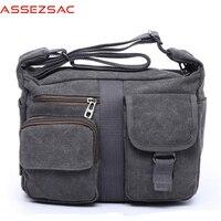Assez Sac Fashion Men Messenger Bags Canvas Travel Bag Handbag For Busness Man Men Single Shoulder