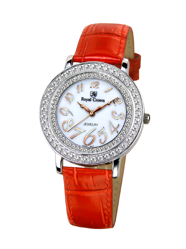 Royal Crown Jewelry Watch 3632 Italy brand Diamond Japan MIYOTA platinum Large Lady Women's Watch Japan Quartz royal crown jewelry watch 3632 italy brand diamond japan miyota platinum dress colorful bracelet brass rhinestone