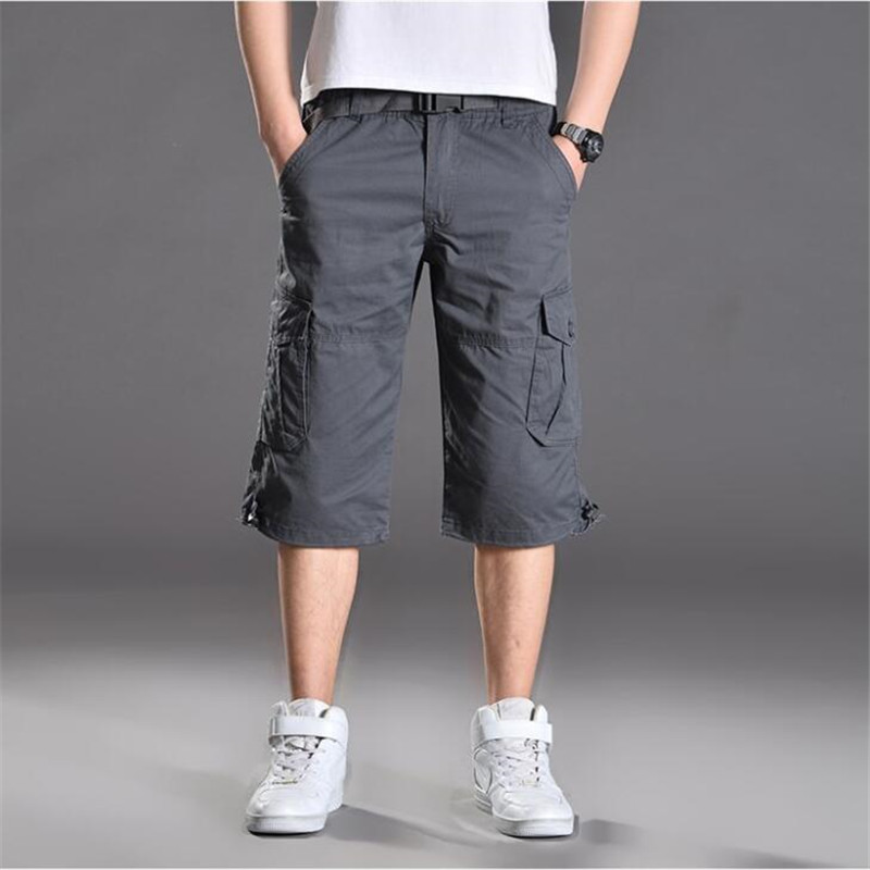Summer Multi-Pockets Casual Shorts Men Militar Tactical Cargo Shorts Male Camouflage Army Military Short Plus size