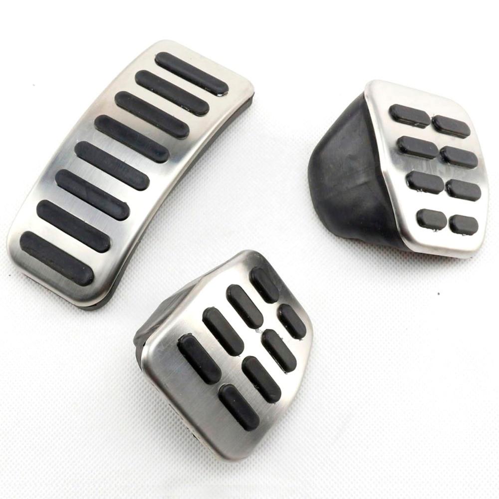 TAIHONGYU 3 PCS Embrayage Gaz De Frein MT Sport Tampons Pédales pour VW Golf Jetta Bora Mk4 Polo Beetle