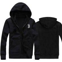 3d55f3f4f2035 Unsex Juventus imprimir Hoodies 2018 Otoño Invierno hombres mujeres Fleece  ropa deportiva de manga larga con