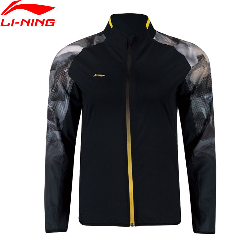 Li Ning Men Badminton Series Jackets Regular Fit 92 Polyester 8 Spandex National Team LiNing Sports