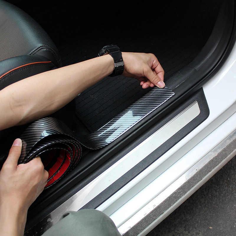70 мм * 2 м автомобильный стикер из углеродного волокна резиновый защитный кожух полосы порога протекторы CA