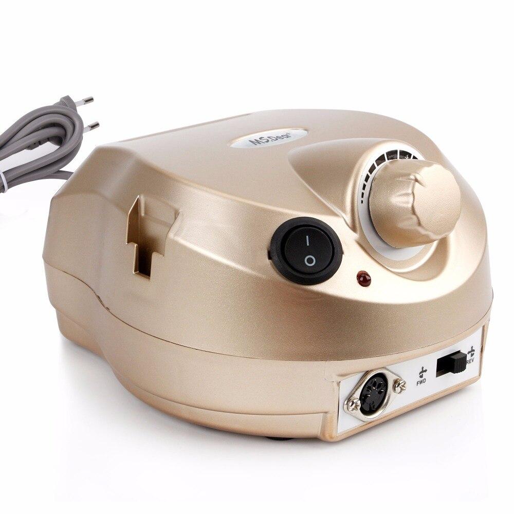 35000 RPM Aparato de máquina profesional para manicura pedicura Kit de Lima eléctrica con cortador de broca de herramienta de pulidor de arte - 2