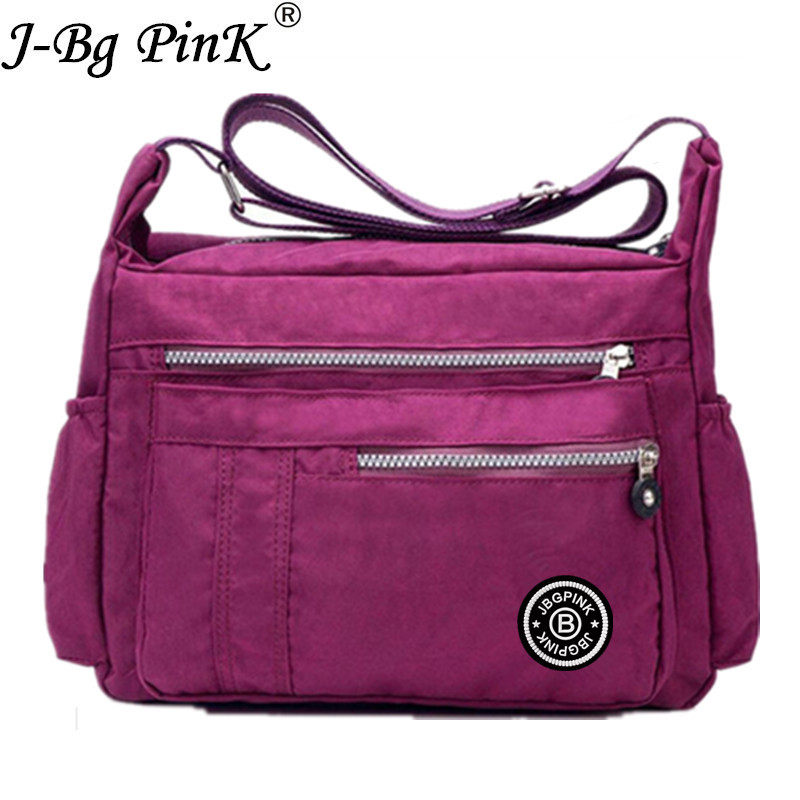 J-BG PinK Women Famous Brand Big Nylon Shoulder Beach Bag Casual Tote Female Crossbody Bags sac Femme Bolsa Feminia 2017 New brand high quality women sheepskin handbag famous designer messager crossbody bag female sac big bags casual tote bolsa feminina