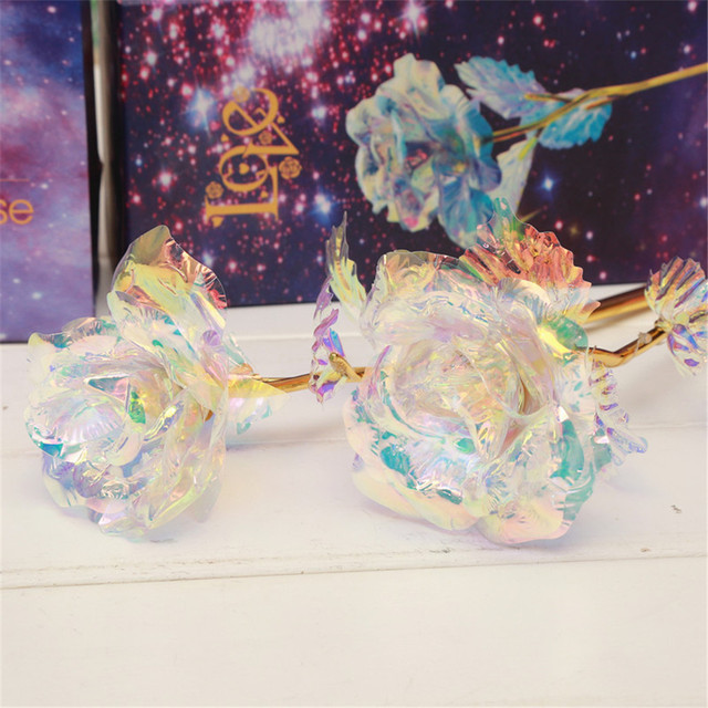 Galaxy Rose With Love Base Everlasting  Luminous Crystal rose ball Valentine Mother's day Anniversary Gift The Best Choice #4/5