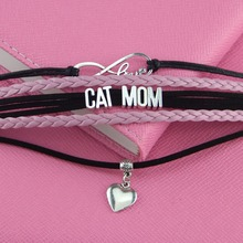 Beautiful pink CAT MOM bracelet