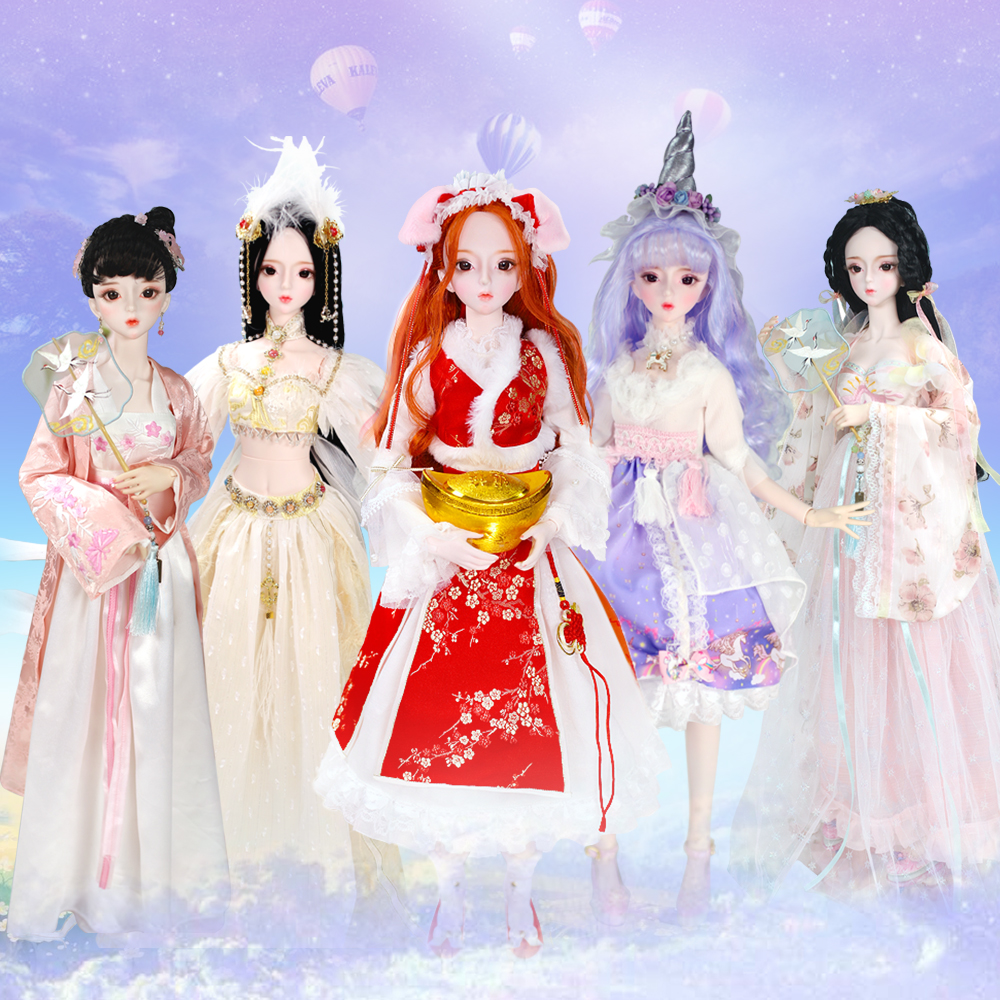 1 3 BJD Doll Joint Body 62CM with outfit shoes and Gift box combination Set gift