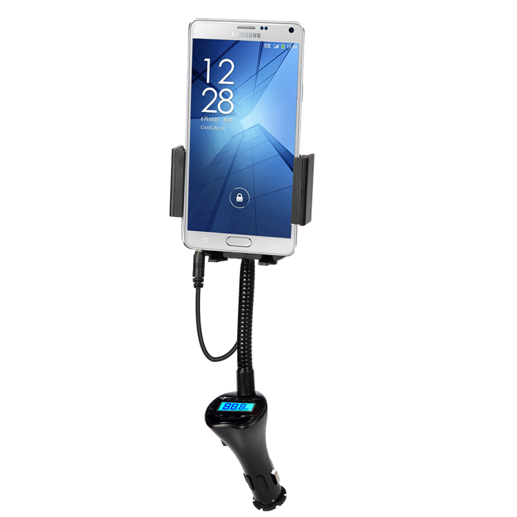 Universal USB Car Charger 3 5mm Audio Cable FM Transmitter Car Phone Stands Holders For iPhone
